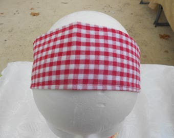 red gingham Plaid headband
