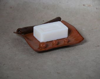 Brown ceramic SOAP dish