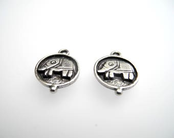 Charm Medal with incrusted elephant