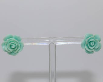 sky blue Rosebud earrings
