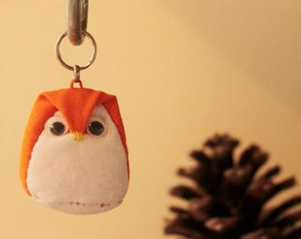 Key shaped OWL or OWL orange and white - small size