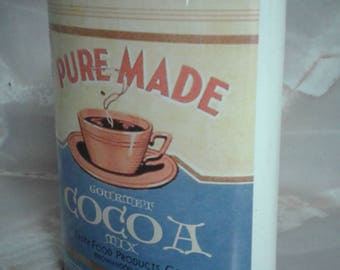 Vintage pure made cocoa tin