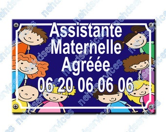 Outer blue 2015 licensed nursery assistant street sign