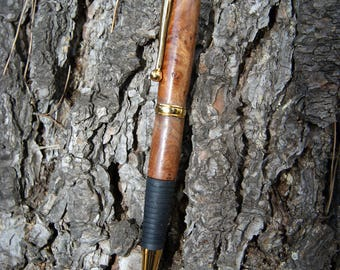 comfort pen turned 'Helen' by hand in the elm Burl