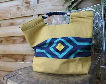 """The """"Alice"""" handbag in yellow linen"""