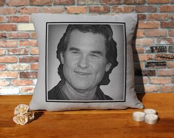 Kurt Russell Pillow Cushion - 16x16in - Grey