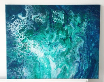 "Abstract Art Acrylic Painting Original | ""In The Deep"" 40cm x 50cm Canvas"