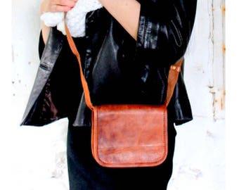 small leather bag, leather bag, handbag shoulder bag, vintage leather women bag leather satchel