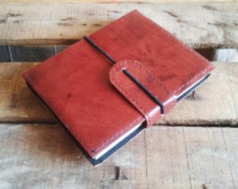 Journal simple brown leather, leather, Journal note book design, A5 size Planner