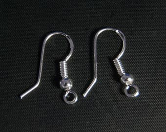 Drop earring in 925 sterling silver, 18 mm, the pair
