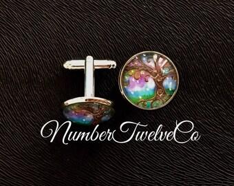 "Handmade ""Colour"" Miracles Cufflinks"