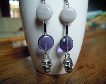 """Earrings with charms """"death's head"""""""