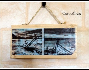 The sea wooden decorative sign