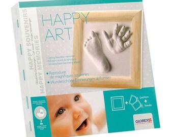 Kit frame footprints 23.5 x 23.5 cm Happy Art - Glorex - Ref 62704013