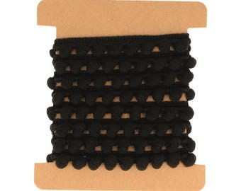 Chocolate Black 10 mm x 1 m - Artemio - Ref. 11005287 (Ribbon tassels)