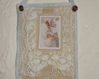 Wall hanging fabric and lace