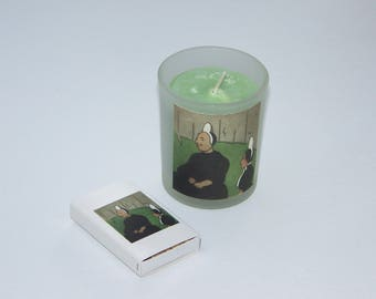 Breton, France Mother and Daughter Soy Votive Candle & Matchbox Set One-Of-A-Kind with Free Shipping