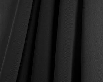 "60"" Wide - High Quality 100% Polyester Chiffon Sheer Fabric - BLACK"