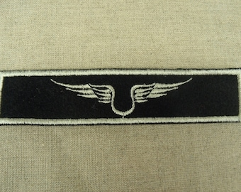 badge military sewing - black and white