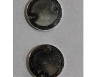 Silver round acrylic rhinestone
