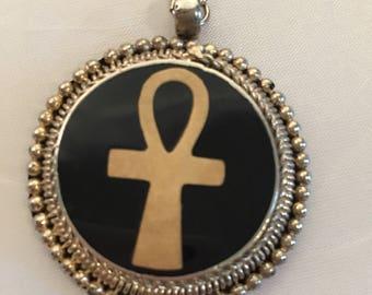 Vintage Silver Ankh Medallion