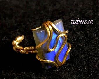 blue ark(unisex ring / gold・labradorite/ one-off)