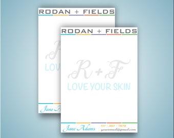 Rodan and Fields Notepad, Rodan and Fields Note Cards Digital Files Bundle, Rodan Fields Sticky Notes, R and F Printable - Digital file 0070