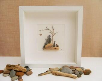 Pebble/Stone Art - Family Tree
