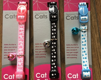 Ancol Cat/Kitten Collars With Engraved Tag