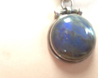 Blue grey stone pendant