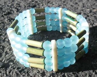 bamboo in water (OOAK) bracelet