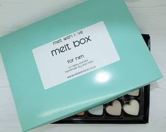 For Him Soy Wax Melt Box. Soy wax melts, soy wax, aftershave wax melts, aftershave candle melt, wax melt favour, wax melt.