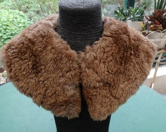 Vintage fur collar. Vintage fur collar. Vintage fur collar. vintage fur. fur scarf. Old garment. Cowl