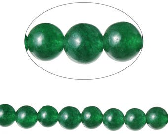 Set 90 Agate beads round 4 mm - SC71590-dark green