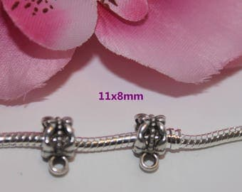 20 silver bails for a 11x8mm - SC00004 pandor style bracelet