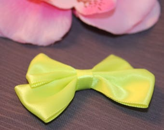 1 40x60mm jewelry scrapbooking lime green satin bow