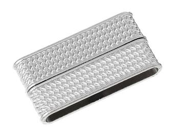 Rectangular silver plated magnetic clasps SC52903-creating jewelry - 2