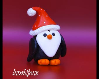 Special Christmas: hanging small pinguoin polymer