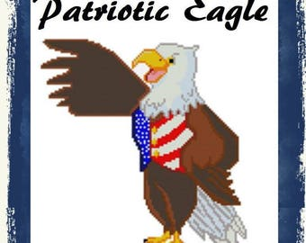 Plastic Canvas Full Body Patriotic Eagle