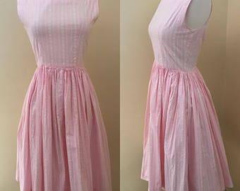 Vintage 1960s pink heart sundress