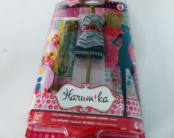creative fashion clothing mannequin dressed Harumika fashion designer kit sticker set shopping fabric