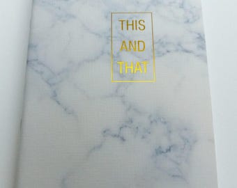 format A5 32 lined pages notebook Leafs marble effect