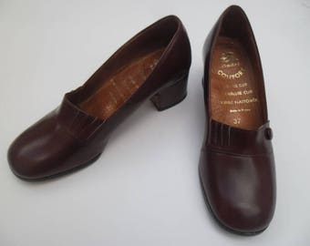 André comfort 37 Burgundy leather shoes