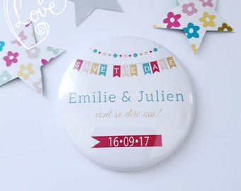 magnet save the date wedding party to be personalized