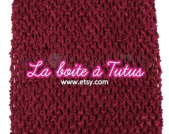 Strapless stretch stretchy crochet for baby tutu dress / girl / / Bustiers Tutu top 2/3/4/5/6 years red burgundy Bordeaux
