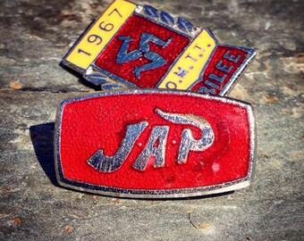 JAP Vintage J A Prestwick Motorcycle Pin