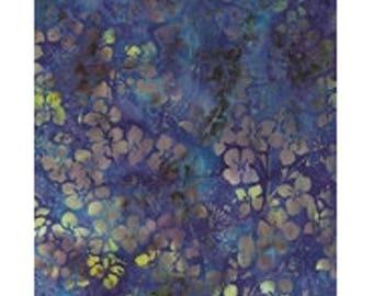 blue purple flowers ref kf05m5 batik patchwork fabric