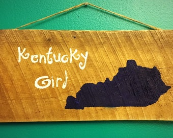 Kentucky Girl, Pallet Art, Reclaimed Wood, UK Decor, Housewarming
