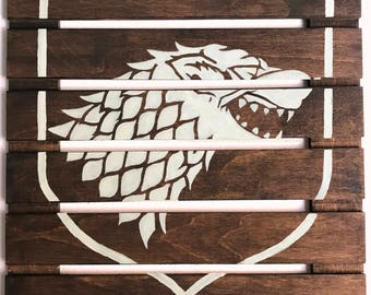 14x14 Game of Thrones House Stark Logo