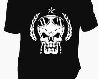 t-shirt man skull RIDER